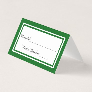 Wedding Themed Double Green Trim - Escort Card
