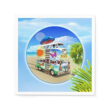 Beach Themed Double Groovy Birthday Party Napkins
