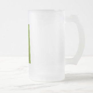 Double Guitar Frosted Glass Beer Mug