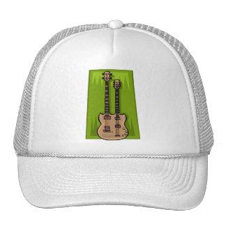 Double Guitar Trucker Hats