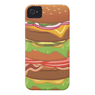 Double hamburger with cheese and bacon iPhone 4 cover