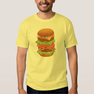 Double hamburger with cheese and bacon T-Shirt