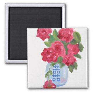 """""""Double Happiness"""" 2 Inch Square Magnet"""