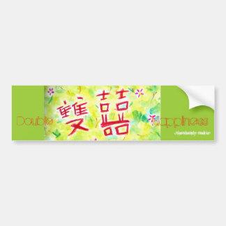 Double Happiness- Bumper Sticker Car Bumper Sticker