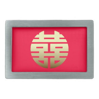 Double Happiness Chinese symbol Belt Buckle