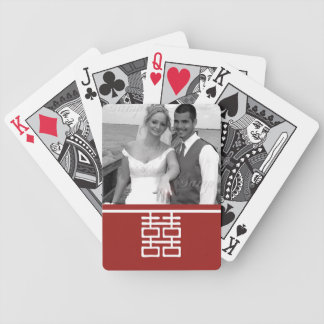 Double Happiness Chinese Wedding Bicycle Playing Cards