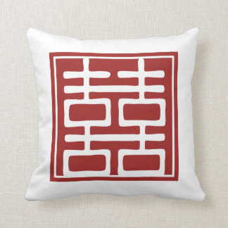 Double Happiness Chinese Wedding Pillows