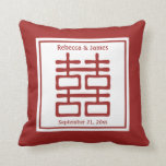 Double Happiness Chinese Wedding Throw Pillow