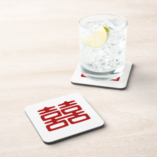 Double Happiness • Elegant Drink Coaster
