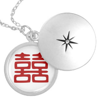 Double Happiness • Elegant Silver Plated Necklace