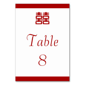 Double Happiness • Elegant Table Cards