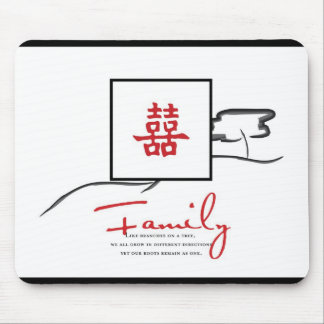 Double Happiness - Family quote Mouse Pad