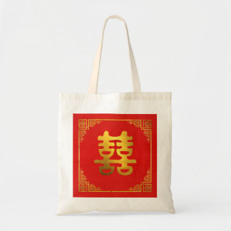 Double Happiness Feng Shui Symbol Tote Bag