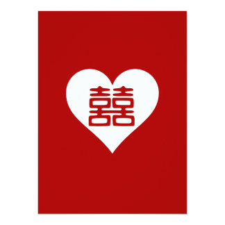 Double Happiness • Heart  • Bold Red Card