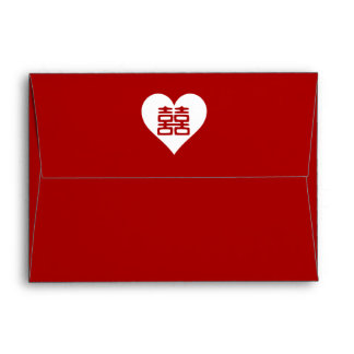 Double Happiness • Heart • Bold Red Envelope
