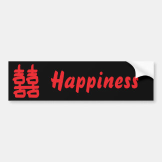 Double Happiness in Red Bumper Sticker