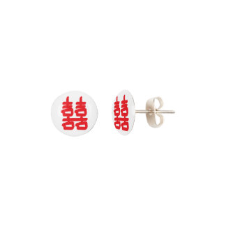 Double Happiness in Red Earrings