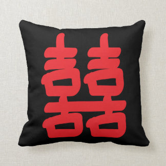 Double Happiness in Red Pillows
