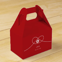 Double Happiness Knot Chinese Wedding Favor Box