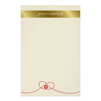 Double Happiness Knot Chinese Wedding Stationery