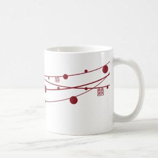 Double Happiness Lanterns Oriental Wedding Mug