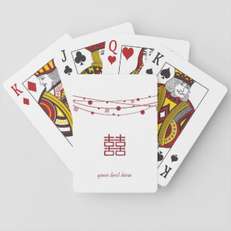 Double Happiness Lanterns Personalize Playing Card Card Deck