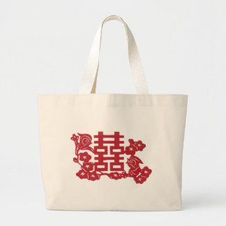 Double Happiness Large Tote Bag