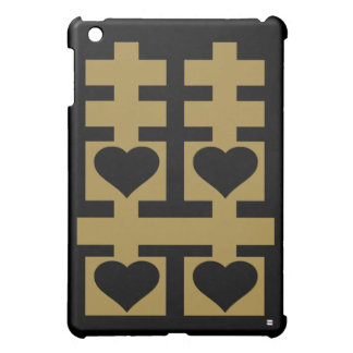 Double Happiness Mini iPad Case Gold
