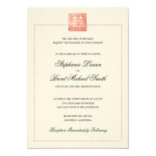 Chinese American Wedding Invitations Zazzle
