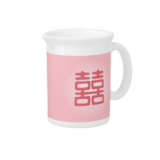 Double Happiness • Pink • Bold Beverage Pitcher