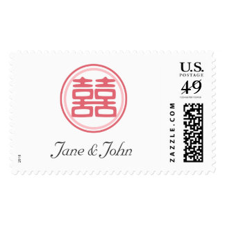Double Happiness • Round Postage