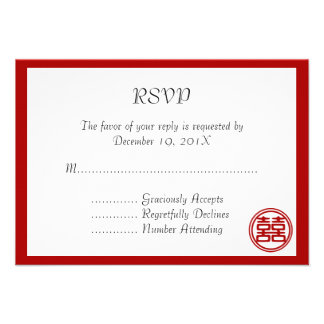 Double Happiness • Round • RSVP Cards