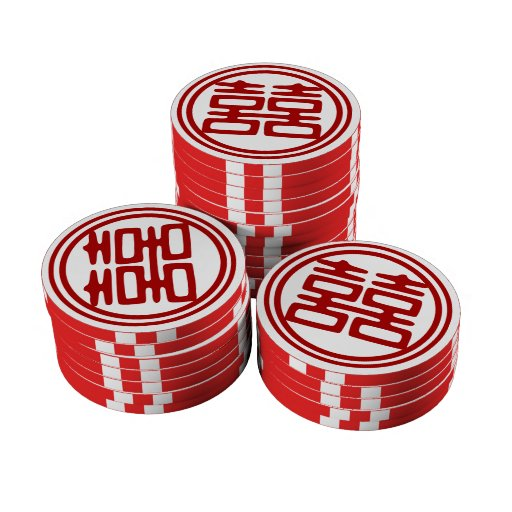 Double Happiness • Round Set Of Poker Chips
