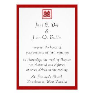 Double Happiness • Square Custom Invite