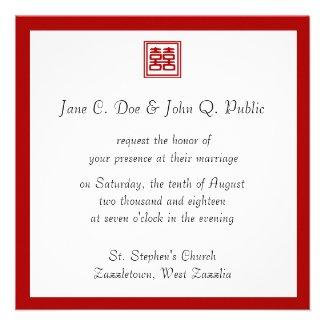 Double Happiness • Square Personalized Invitation