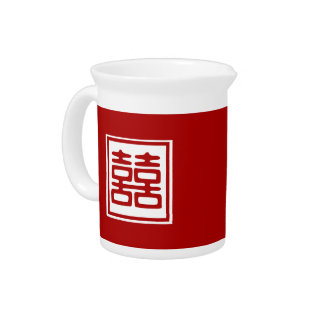 Double Happiness • Square Drink Pitcher