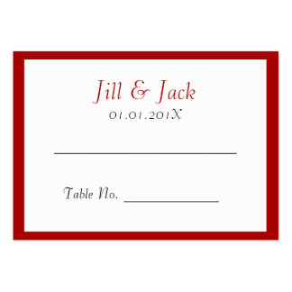 Double Happiness • Square • Place Cards Large Business Cards (Pack Of 100)