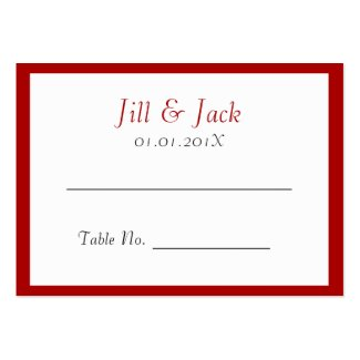 Double Happiness • Square • Place Cards Business Card Templates