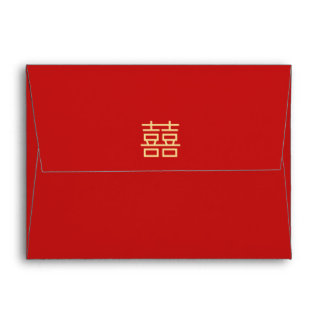 Double Happiness Traditional Wedding Envelopes