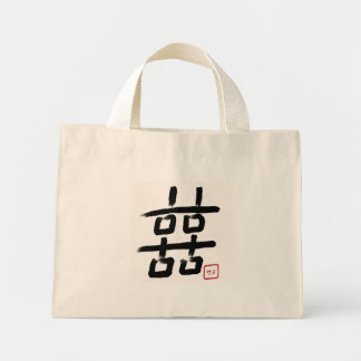 DOUBLE HAPPINESS w/ inkah(japanese signature) Mini Tote Bag