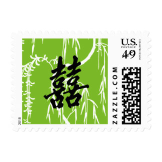 Double Happiness Weeping Willow Postage