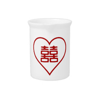 Double Happiness • White • Heart Drink Pitcher