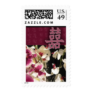 Double happiness - with orchids! stamps