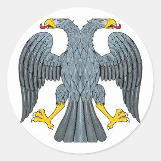 Double-head Eagle Classic Round Sticker