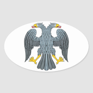 Double-head Eagle Oval Sticker