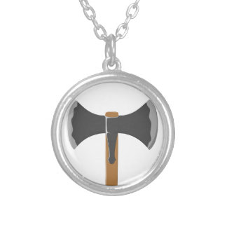 Double-headed Battleaxe Round Pendant Necklace