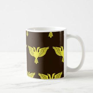 Double Headed Eagle Brown Yellow Coffee Mug