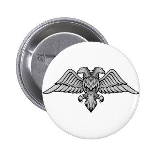 Double headed eagle button