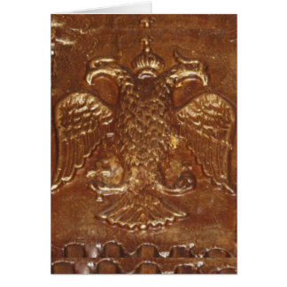Double Headed Eagle Byzantine Empire Coat Of Arms Card