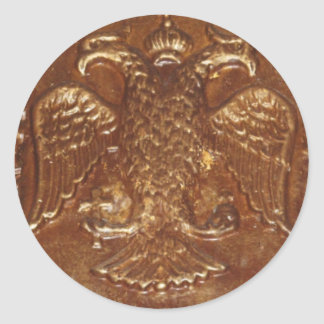 Double Headed Eagle Byzantine Empire Coat Of Arms Classic Round Sticker